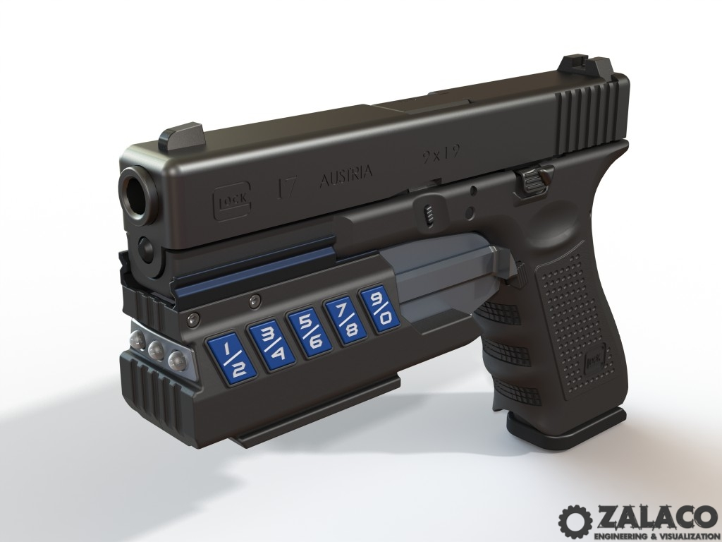 3D Model of Gun Guardian Firearm Safety Device