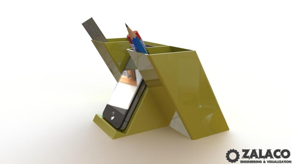 3D Modeling of Smart Phone Desk Organizer